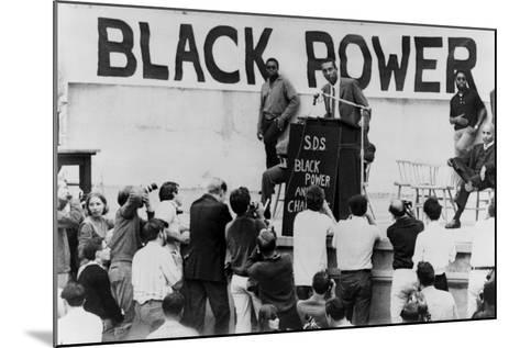 Stokely Carmichael Speaking at the University of California at Berkeley, Ca. 1965-67--Mounted Photo