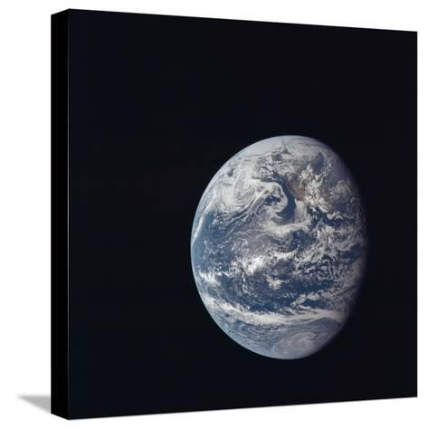 Apollo 11 Earth View from Space, July 17, 1969--Stretched Canvas Print