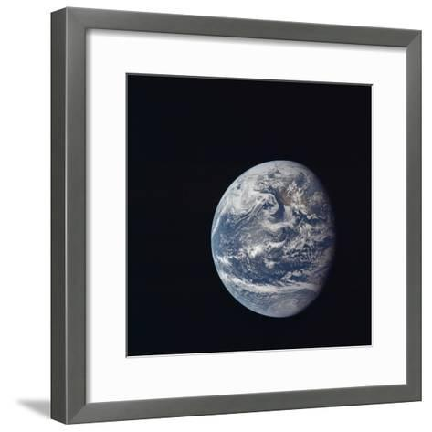Apollo 11 Earth View from Space, July 17, 1969--Framed Art Print