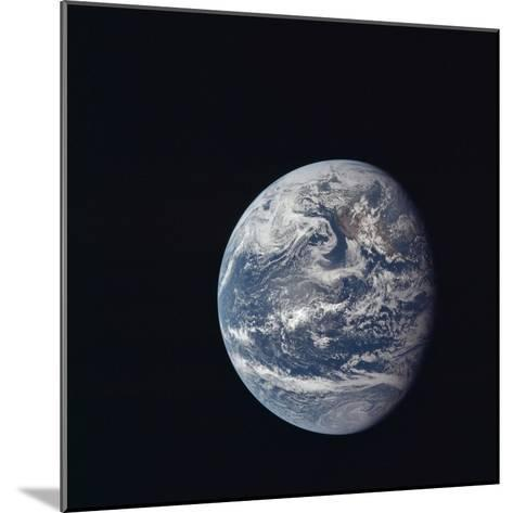 Apollo 11 Earth View from Space, July 17, 1969--Mounted Photo