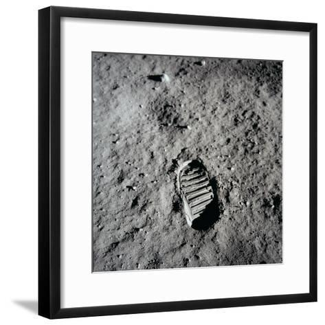 Apollo 11 Boot Print on the Moon. July 20, 1969--Framed Art Print