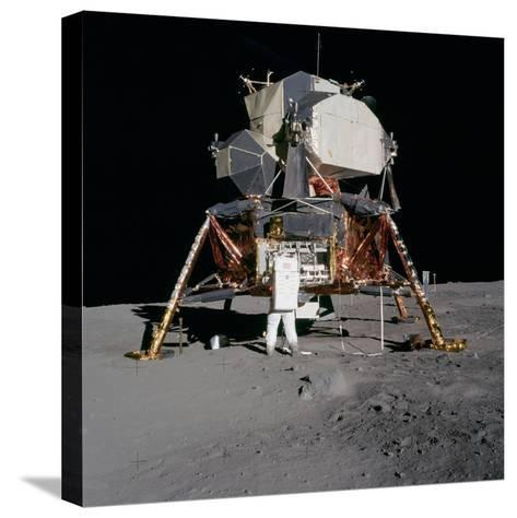 Apollo 11 Lunar Module on the Moon's Surface, July 20, 1969--Stretched Canvas Print