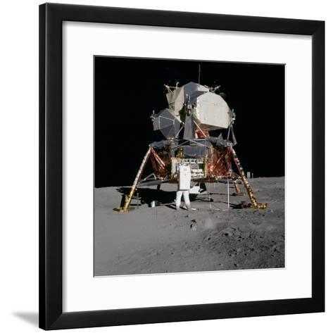 Apollo 11 Lunar Module on the Moon's Surface, July 20, 1969--Framed Art Print
