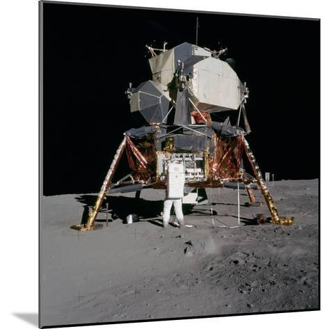 Apollo 11 Lunar Module on the Moon's Surface, July 20, 1969--Mounted Photo