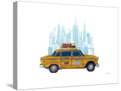 Taxi New York-Barry Goodman-Stretched Canvas Print