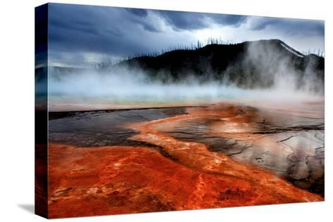 Hot Springs at Dawn-Howard Ruby-Stretched Canvas Print