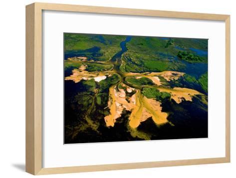 Delta Water Receding-Howard Ruby-Framed Art Print