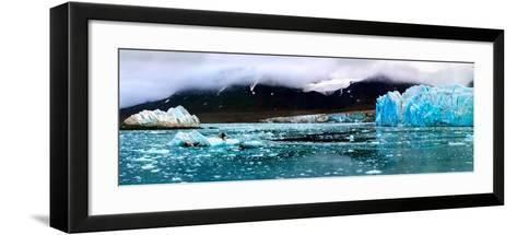 Monaco Glacier and Island-Howard Ruby-Framed Art Print