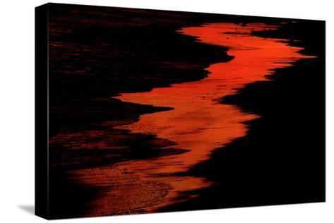 Malibu Beach at Sunset-Howard Ruby-Stretched Canvas Print