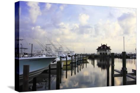 Atlantic Beach Marina I-Alan Hausenflock-Stretched Canvas Print