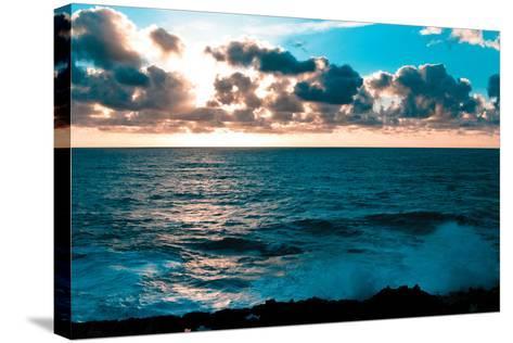 Depoe Bay Sunset I-Erin Berzel-Stretched Canvas Print