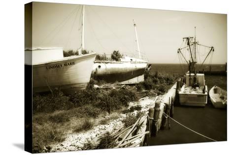 Boat Yard II-Alan Hausenflock-Stretched Canvas Print