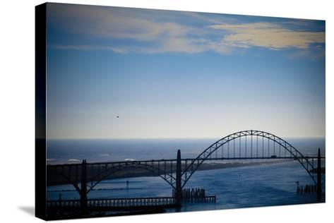 Yaquina Bay Bridge II-Erin Berzel-Stretched Canvas Print