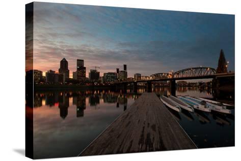 Portland Waterfront II-Erin Berzel-Stretched Canvas Print