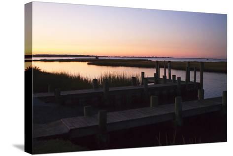 Chincoteague Sunrise 1-Alan Hausenflock-Stretched Canvas Print