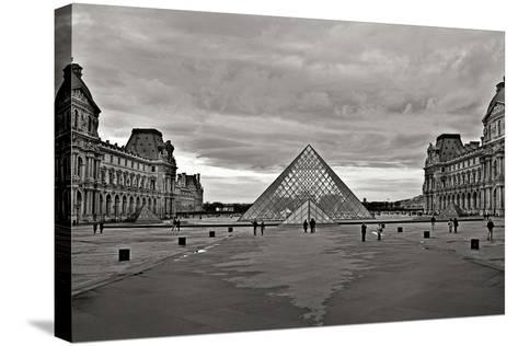 Pyramid at the Louvre I-Rita Crane-Stretched Canvas Print