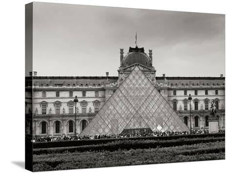 Pyramid at the Louvre II-Rita Crane-Stretched Canvas Print