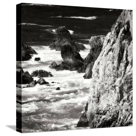 Garrapata 7 BW Square-Alan Hausenflock-Stretched Canvas Print