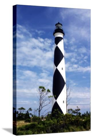 Cape Lookout Light-Alan Hausenflock-Stretched Canvas Print