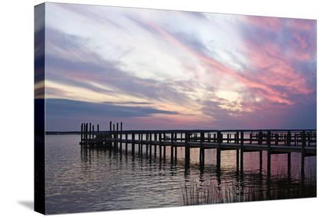 Dockside Sunset 3-Alan Hausenflock-Stretched Canvas Print