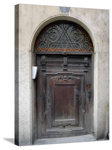 Prague Door III-Jim Christensen-Stretched Canvas Print