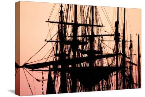 Tall Ships at Sunset 1-Alan Hausenflock-Stretched Canvas Print
