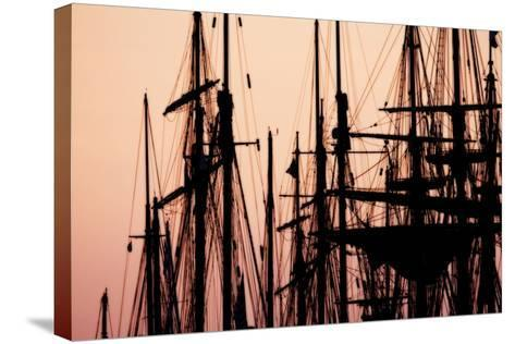 Tall Ships at Sunset 2-Alan Hausenflock-Stretched Canvas Print