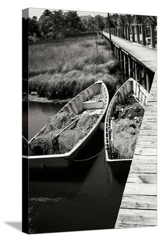 Nets and Boats 1-Alan Hausenflock-Stretched Canvas Print
