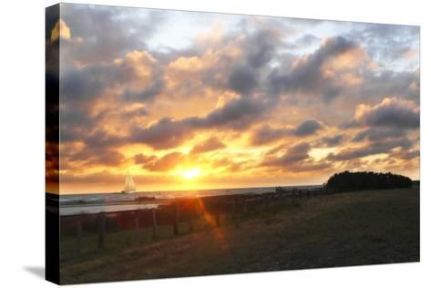 East Bay Sunrise III-Alan Hausenflock-Stretched Canvas Print