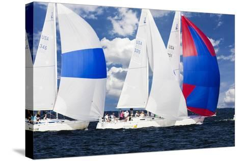 Race at Annapolis 2-Alan Hausenflock-Stretched Canvas Print