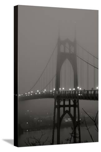Fog at Dawn II-Erin Berzel-Stretched Canvas Print