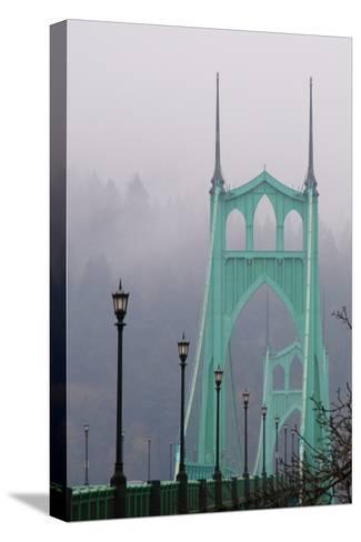 Light on the Bridge II-Erin Berzel-Stretched Canvas Print
