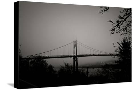St. Johns Bridge V-Erin Berzel-Stretched Canvas Print