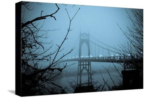 St. Johns Bridge VIII-Erin Berzel-Stretched Canvas Print