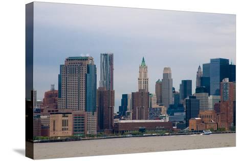 Manhattan Cityscape II-Erin Berzel-Stretched Canvas Print