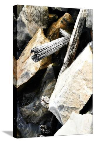 Rocks and Wood I-Alan Hausenflock-Stretched Canvas Print