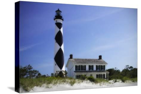 Cape Lookout Light II-Alan Hausenflock-Stretched Canvas Print
