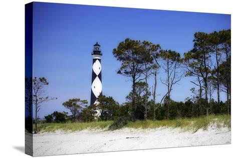 Cape Lookout Light III-Alan Hausenflock-Stretched Canvas Print