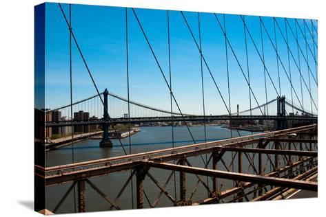 Manhattan Bridge III-Erin Berzel-Stretched Canvas Print