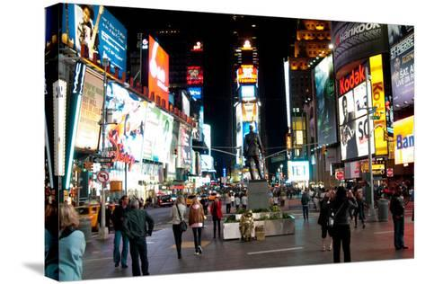 Times Square I-Erin Berzel-Stretched Canvas Print