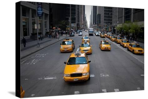 NYC Taxi Cabs-Erin Berzel-Stretched Canvas Print