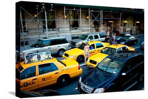 NYC Traffic-Erin Berzel-Stretched Canvas Print