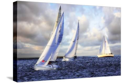 Sailing at Sunset I-Alan Hausenflock-Stretched Canvas Print