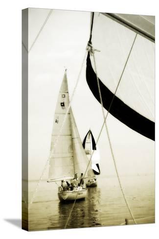 River Sailors II-Alan Hausenflock-Stretched Canvas Print