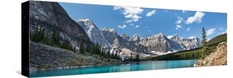 Moraine Lake Panorama-Larry Malvin-Stretched Canvas Print