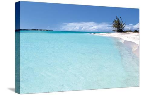 Beach Delliscay-Larry Malvin-Stretched Canvas Print
