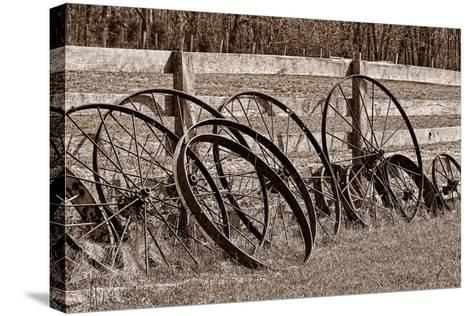 Antique Wagon Wheels I-C^ McNemar-Stretched Canvas Print