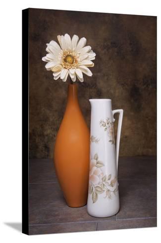 Orange Vase with Pitcher I-C^ McNemar-Stretched Canvas Print