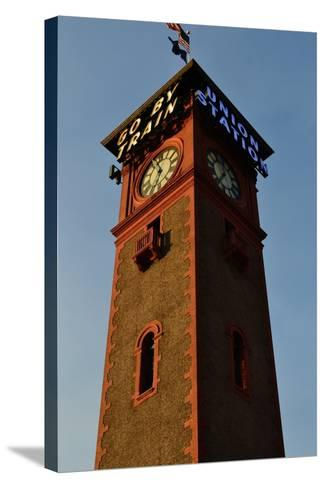 Clock Tower-Brian Moore-Stretched Canvas Print