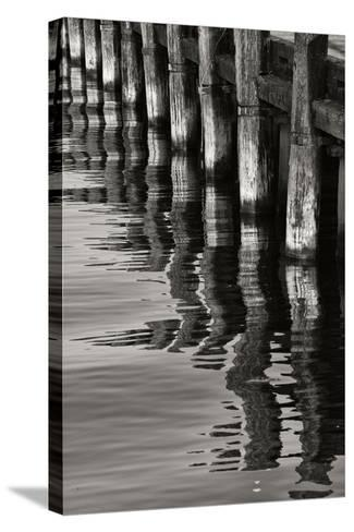 Pier Pilings 8-Lee Peterson-Stretched Canvas Print